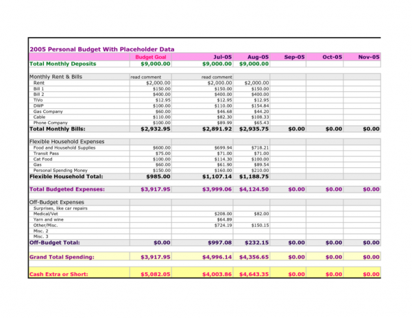 Best Personal Finance Spreadsheet Template1