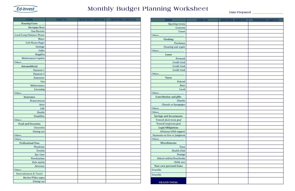 Budget Excel Templates Free