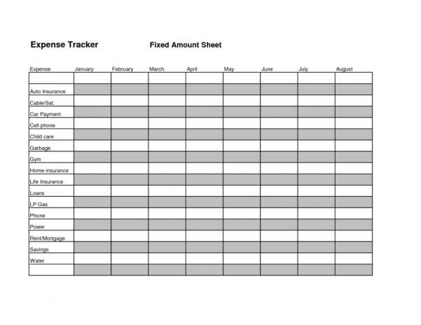 Budget Tracking Sheet Template