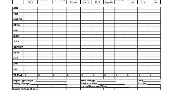 Business Expense And Profit Spreadsheet