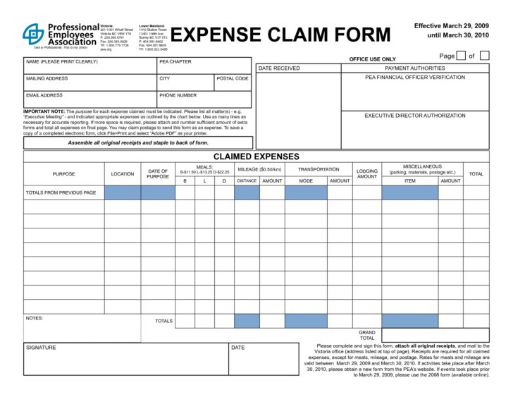 Business Expenses Spreadsheet Template Free