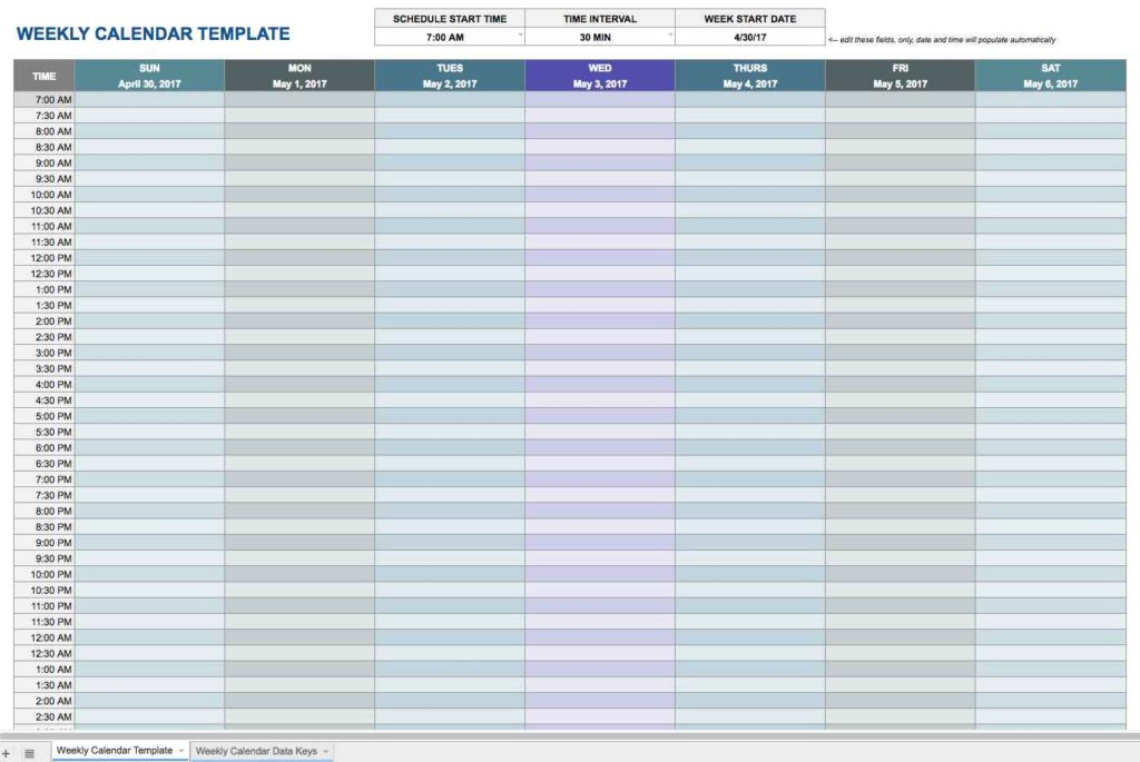 Calendar Templates Printable Free