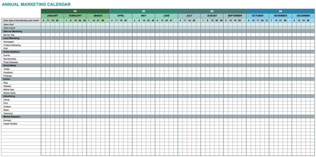 Calendar Templates Printable