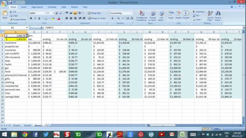 Cash Flow Excel Sheet Template