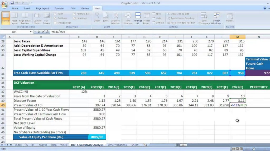 Cash Flow Forecast Template Excel