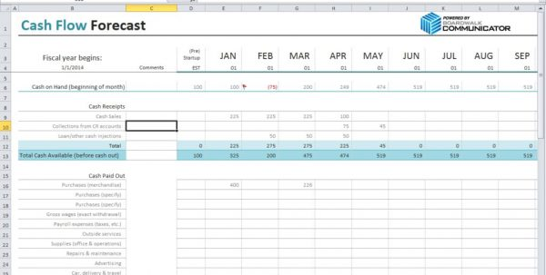 Cash Flow Excel Template Personal