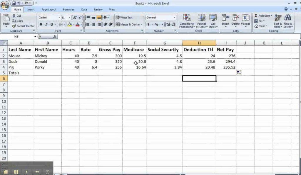 payroll spreadsheet  u2013 db