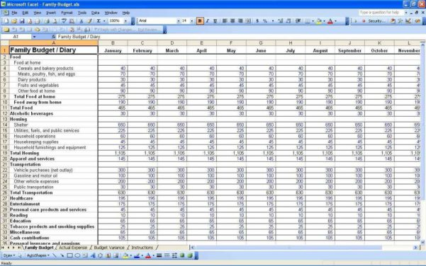 Church Budget Template Excel Free