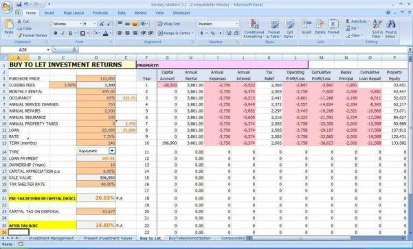 Company Expenses Spreadsheet Templates