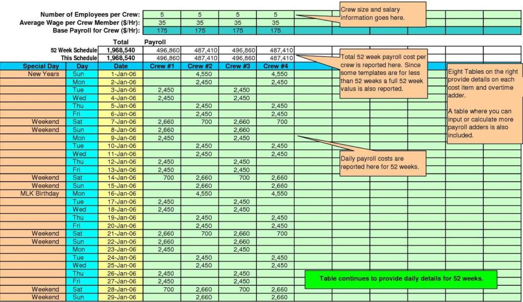 Project Costing Template Excel