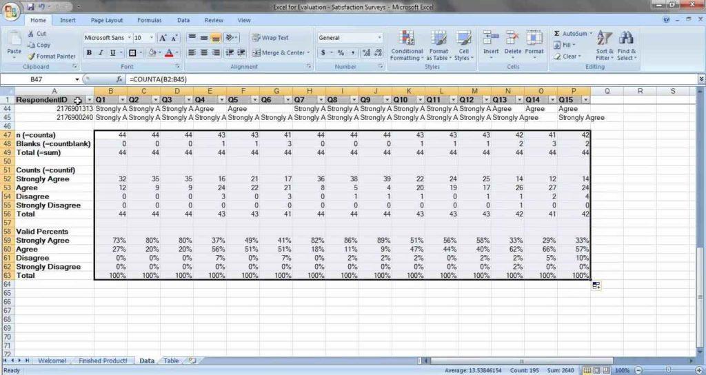 survey spreadsheet template  u2013 db