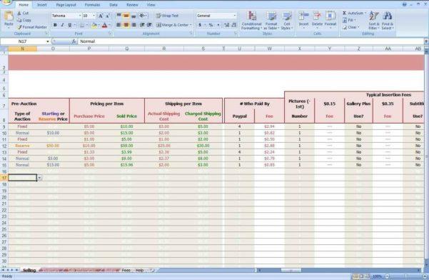 Ebay Bookkeeping Spreadsheet Free