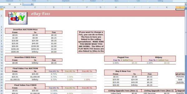 Ebay Spreadsheet