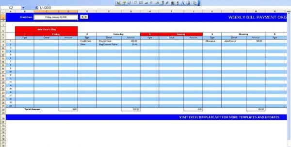 Event Planner Spreadsheet Template