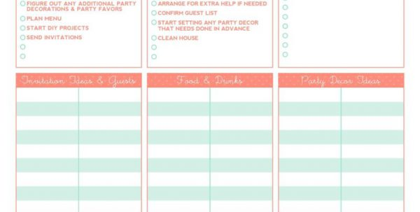 Event Planning Checklist Template Microsoft