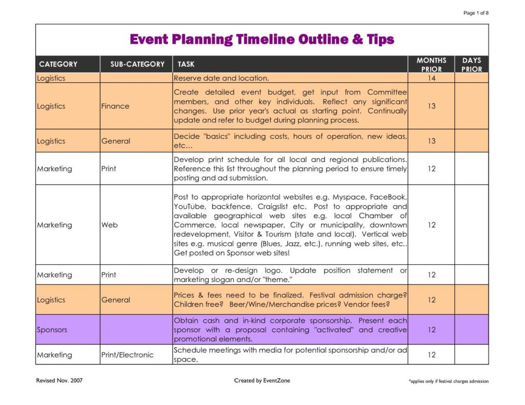 Event planning spreadsheet template spreadsheet templates for Wedding planning schedule template