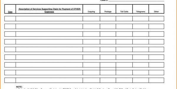 Example Expenses Spreadsheet