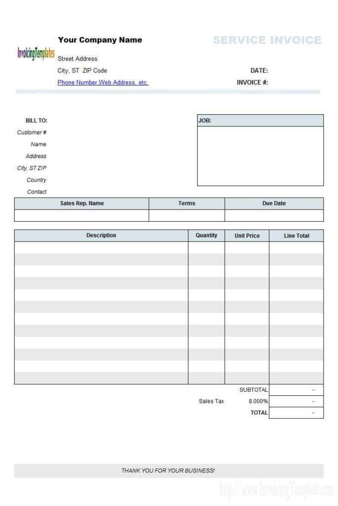 Excel Invoice Template With Database Free Download