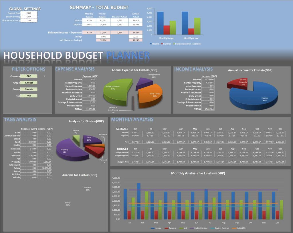 Worksheets Home Budget Worksheet Excel excel spreadsheet budget template for monthly free for
