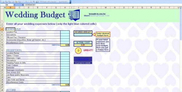 Excel Spreadsheet For Budgeting Home