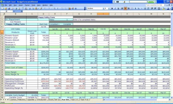Excel Spreadsheet For Small Business Income And Expenses1