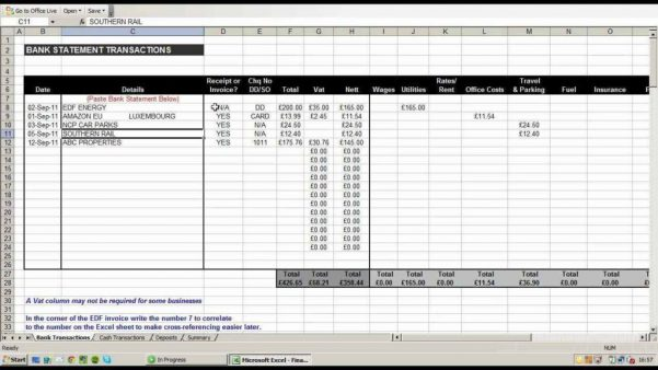 Excel Spreadsheet Monthly Expenses Template