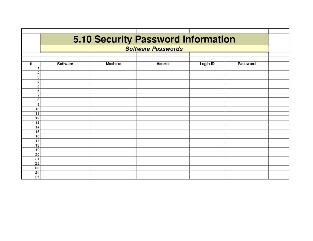 Excel Spreadsheet Password Recovery