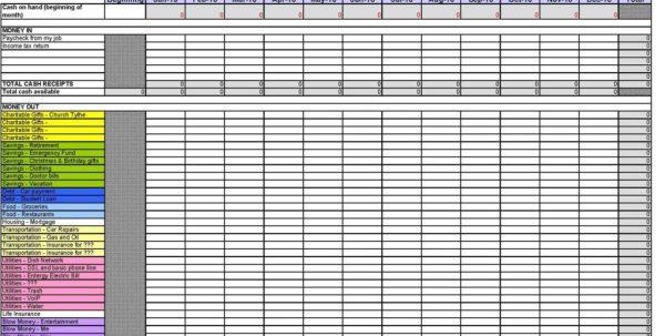 Expense Tracker Spreadsheet Template