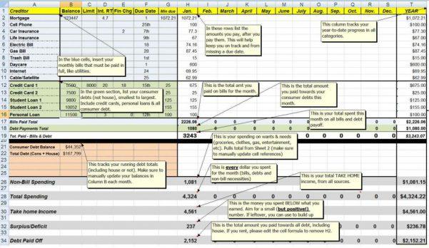 Expenses Tracker Spreadsheet