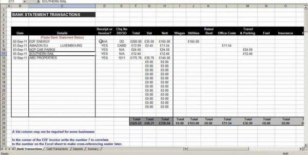 Finance Spreadsheet Template Excel