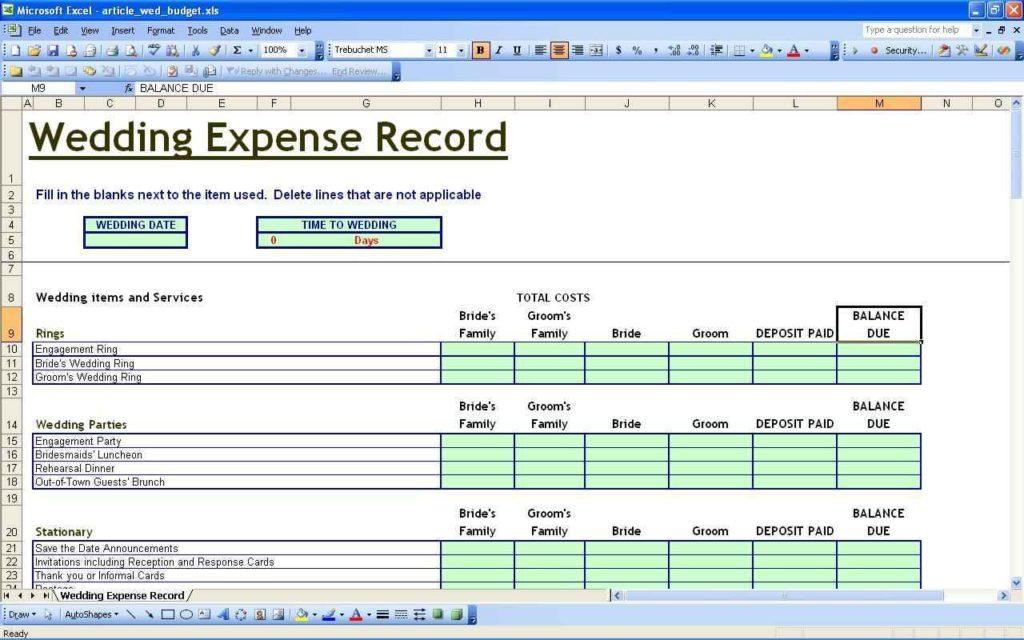 Finance Tracking Spreadsheet