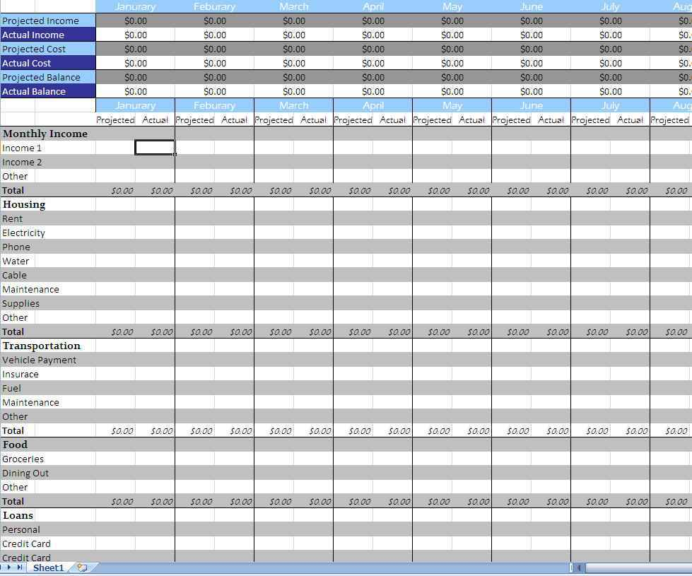 Financial Business Plan Template Excel