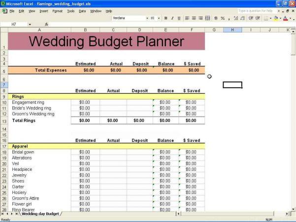Financial Planner Spreadsheet Template