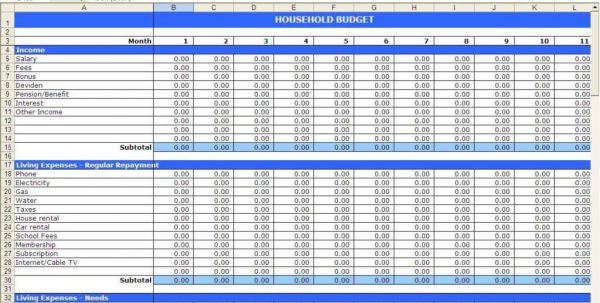 Free Budget Spreadsheet Templates