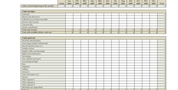 Free Excel Cash Flow Spreadsheet Templates