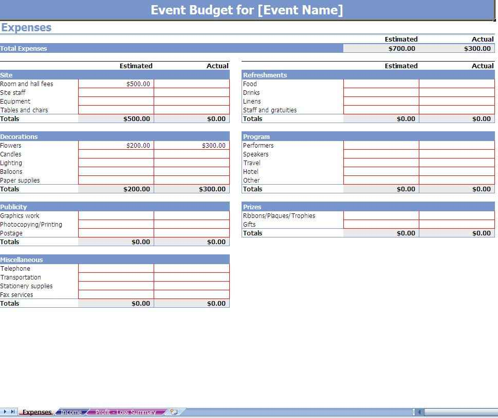 finance excel spreadsheet