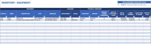 Free Inventory Spreadsheet Template Excel