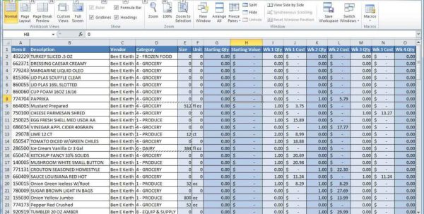 Free Liquor Inventory Spreadsheet Excel
