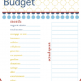 Free Monthly Budget Planner In Excel