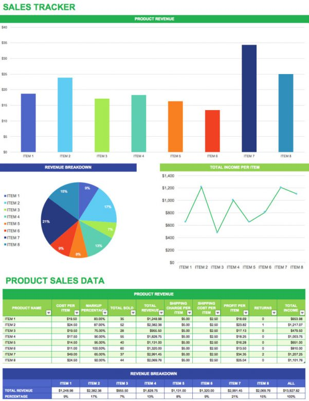 Free Sales Tracking Sheet