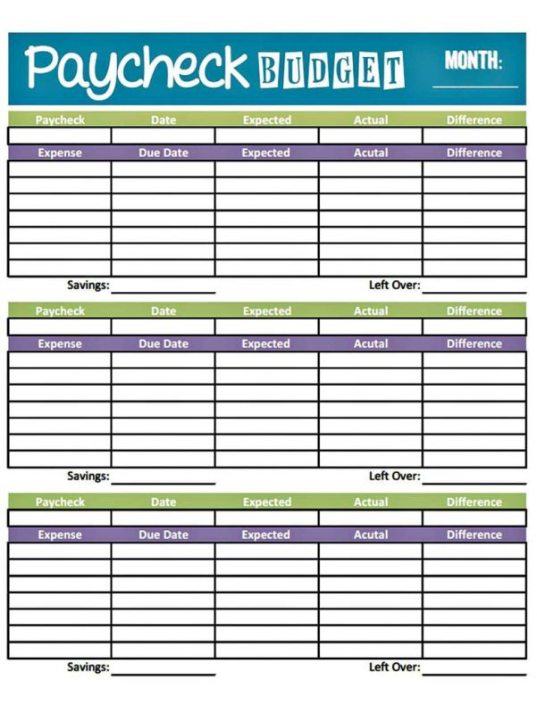 Free Template For Budget Spreadsheet