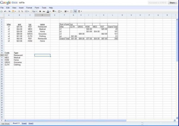 Google Spreadsheet Print Area