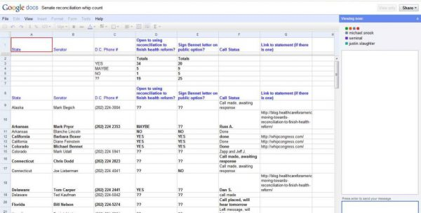 Google Spreadsheet Vba