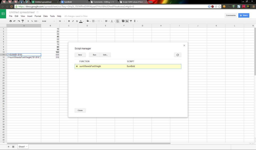 Google Spreadsheet