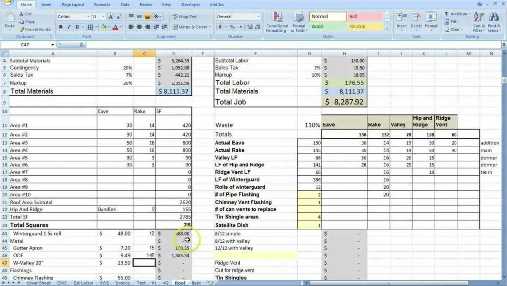 Renovation cost estimate spreadsheet cost estimate for Home building estimate spreadsheet