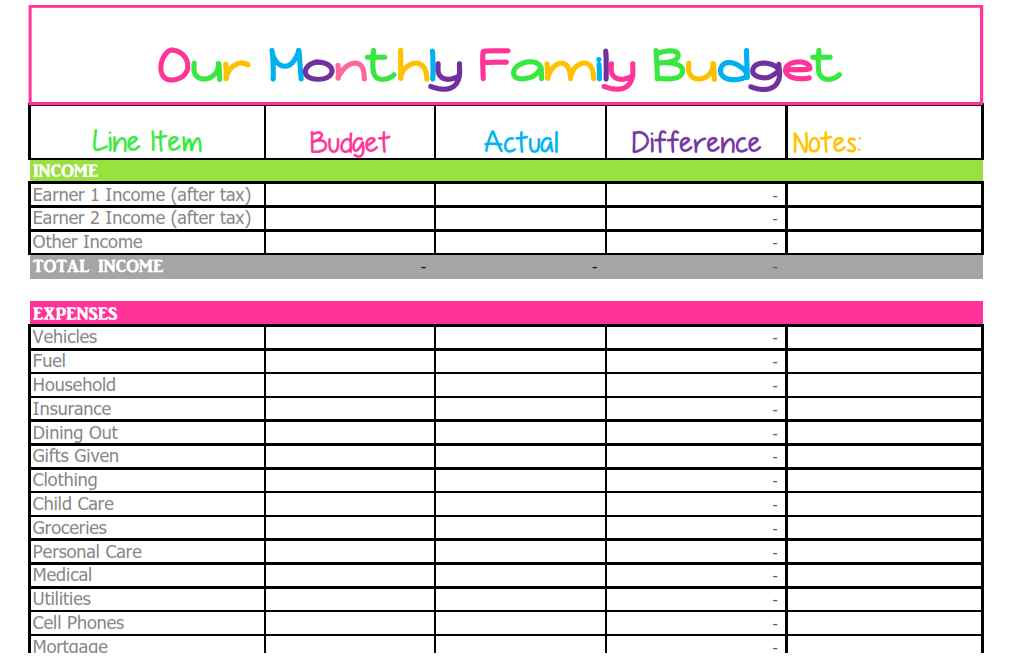 household spreadsheet templates spreadsheet templates for