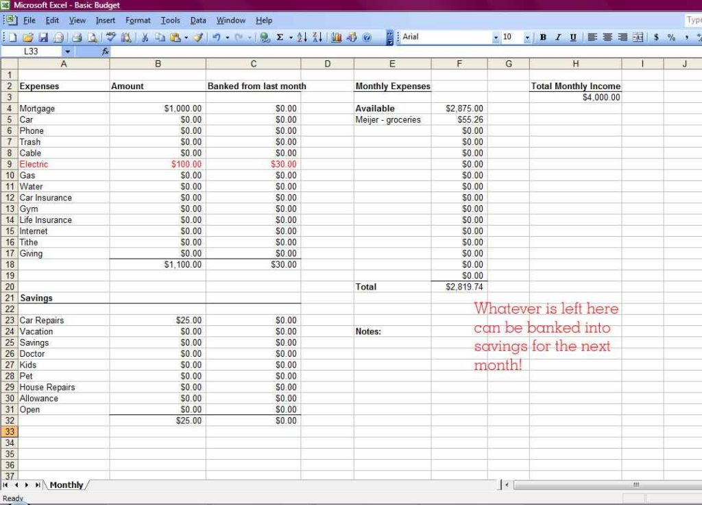How To Make A Spreadsheet In Excel 2