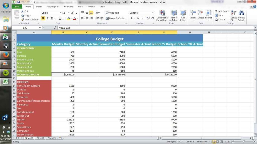 How To Set Up An Excel Spreadsheet Microsoft Spreadsheet