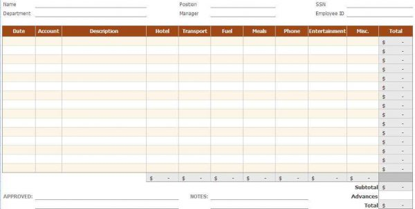Income Expense Spreadsheet For Small Business