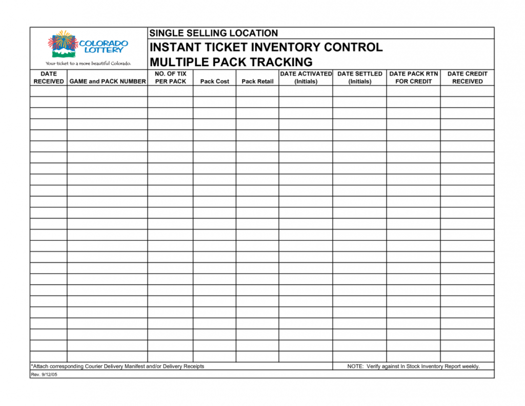 Inventory Management Spreadsheet Template